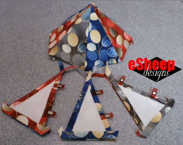 Dimensional Paper Pieced Ornament by eSheep Designs