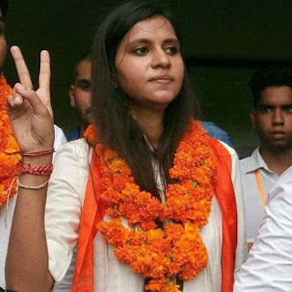 sonia-thakur-abvp-candidate-president-dusu-election-2017-faridabad