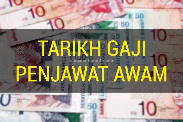 Jadual tarikh pembayaran gaji penjawat kakitangan awam kerajaan bulan januari februari mac april mei jun julai ogos september oktober november disember 2020