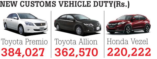 prices of Honda Vezel, Toyota Premier