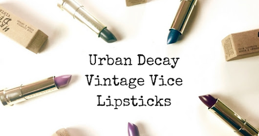 Back to the 90's with Urban Decay Vintage!