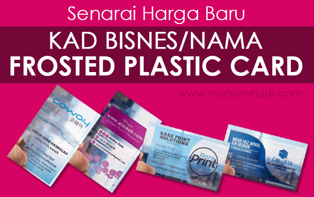 Frosted Plastic Card murah Malaysia