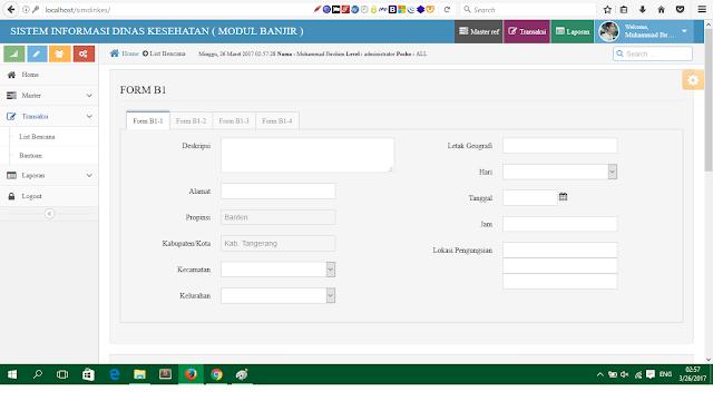 Source Code Aplikasi Banjir Dinas Kesehatan Kab.Tangerang Dengan AJAX dan PHPMYSQL