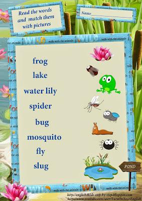 frog vocal for kids, ESL worksheet