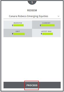 Canara Robeco Mutual Fund Redeem