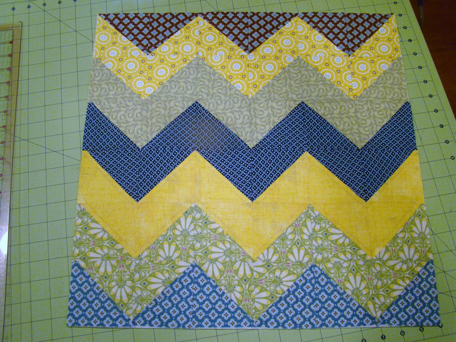 Sewcraftyjess Accuquilt Go Half Square Triangles Pillow