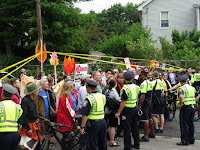 Spectra Energy's planned Access Northeast project has been the subject of sustained protests in Massachusetts. (Credit: Peter Bowden / Flickr) Click to Enlarge.