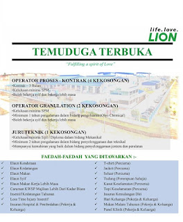 Lion Eco Chemicals Sdn Bhd Kerja Kosong