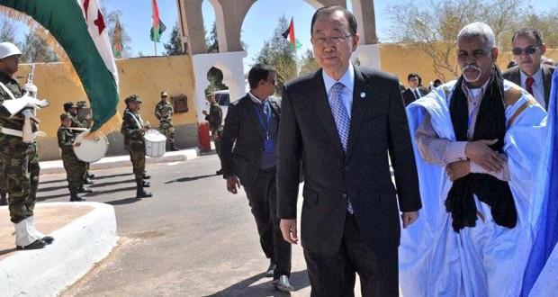 بان كي مون يعبر عن حزنه الشديد لرؤية عائلات صحراوية مزقت أواصرها لفترة طويلة من الزمن بسبب الاحتلال المغربي