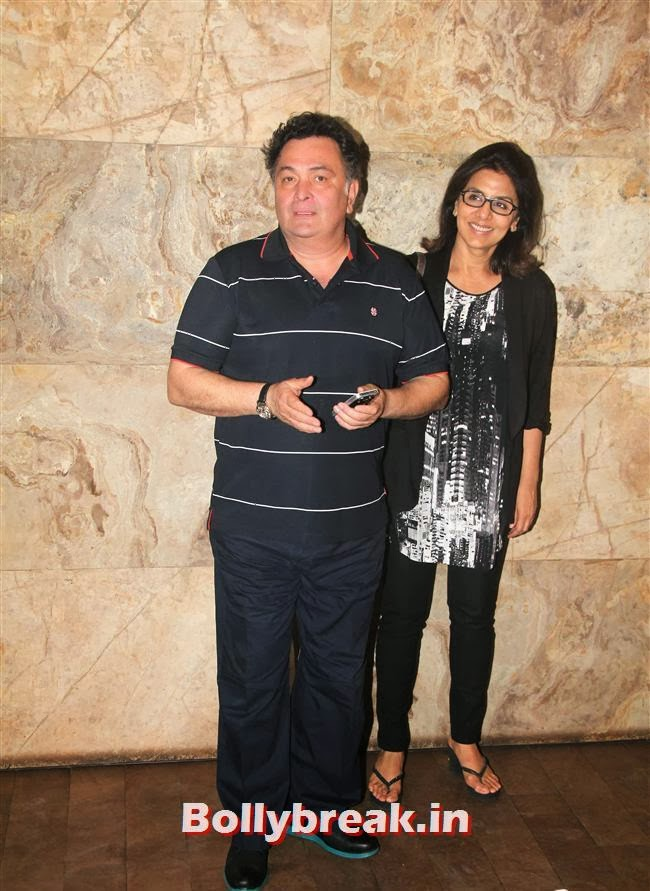 Rishi and Neetu Kapoor, Ram Leela Premiere Photos