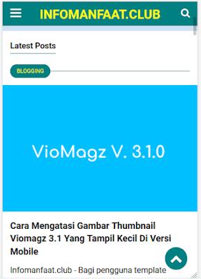 Mengatur tampilan gambar di template viomagz versi 3.1