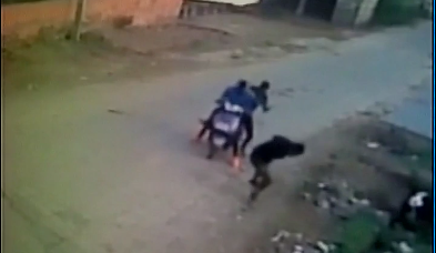 A national-level Kabbadi player Sukhvinder Singh, 24, was murdered in Rithal village of Rohtak on Tuesday evening.  A CCTV camera installed at a nearby house captured the shocking crime, reports  PTI  In the video released by ANI Sukhvinder Singh is seen walking on the road. The two murderers come on a scooter from the opposite direction and fire shots at him.