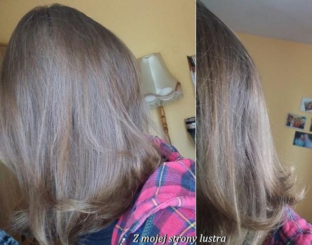 włosy po kokosowym olejku isana