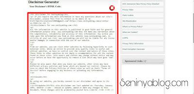 cara membuat privacy policy dan disclaimer blog
