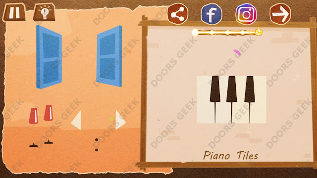 Chigiri: Paper Puzzle Apprentice Level 28 (Piano Tiles) Solution, Walkthrough, Cheats