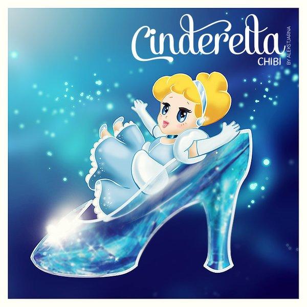 princess Cinderella chibi công chúa cô bé lọ lem 6