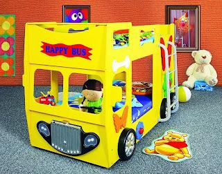 Camere per bambini: Letti a castelli per bambini - auto letto