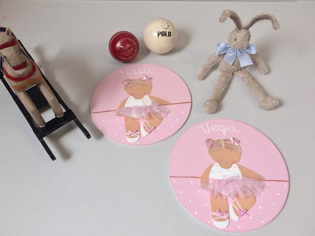 placas de puerta personalizadas habitaciones infantiles ballet