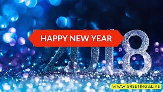 2018 silver shine 3D font New year Light Sparkling bubbles Dark blue background