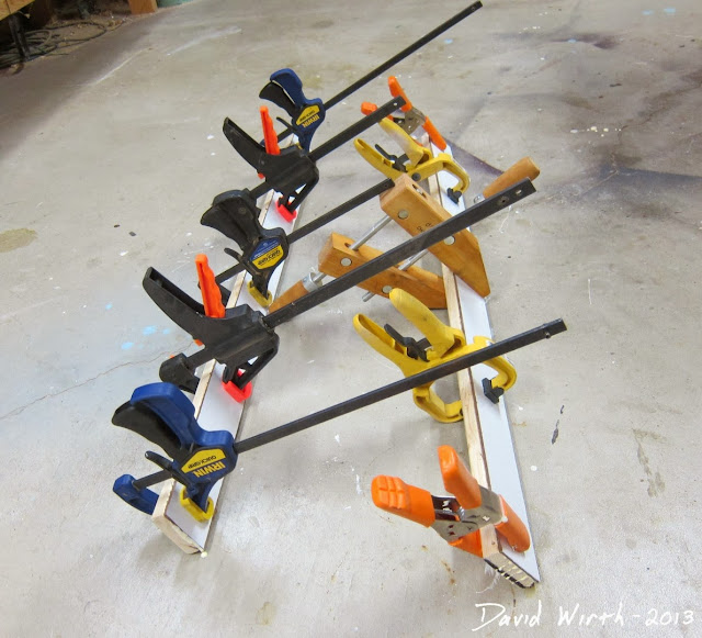 wood, clamps, glue
