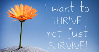I want to thrive not just survive