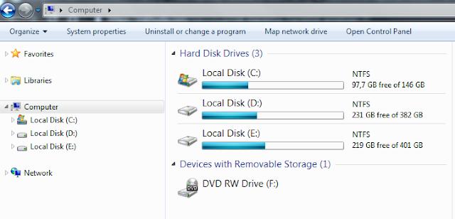 Cara Mengecek Kapasitas Hardisk di Laptop dan komputer