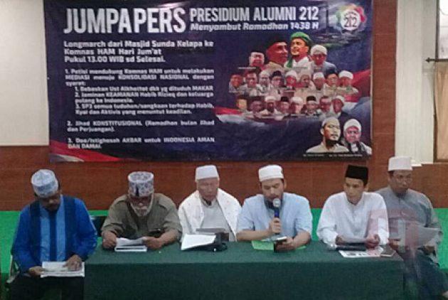 Presidium Alumni 212 Minta Presiden Hentikan Kegaduhan, Setop 'Kriminalisasi' Ulama