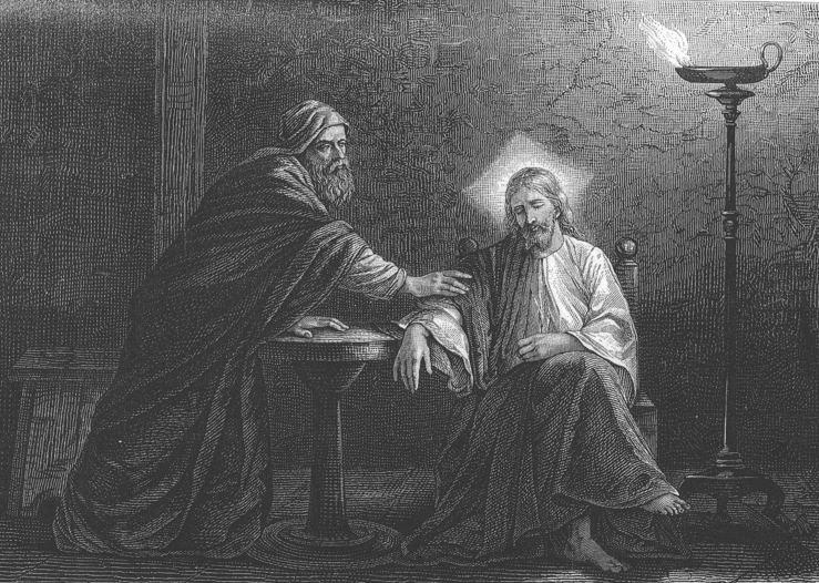 Nicodemus seeks Jesus by night - Alexandre Bida