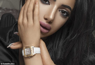 Chloe Khan posed in her negligee for a raunchy photoshoot
