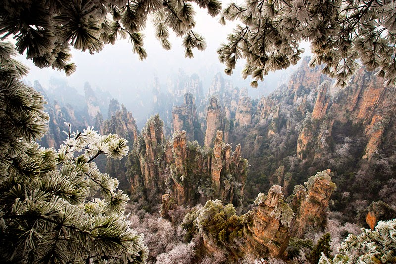 5. Tianzi Mountain, China - 11 Mindblowing Locations You Won't Believe Are Really on Earth