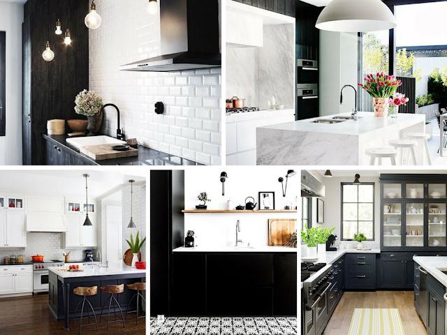 Decoração Black and White - Cozinha