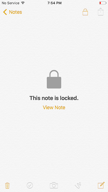 Now tap on View Note and enter your password to unlock the note, or use Touch ID.
