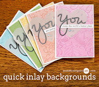 Easy Inlay die cut backgrounds - video  - Jennifer McGuire