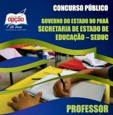 Apostila SEDUC-PA 2017 Professor Classe I