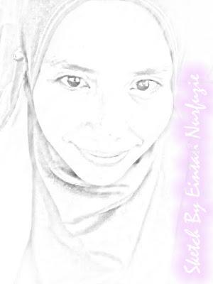 Menang giveaway : Sketch Giveaway Cikla Shahril by Eintan Nurfuzie.