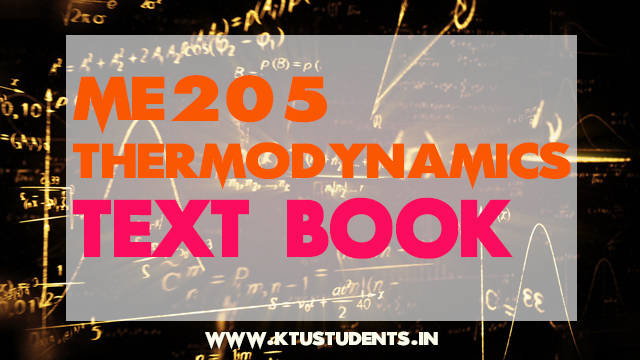 KTU Thermodynamics ME205 PDF Textbook | KTU Students - Engineering