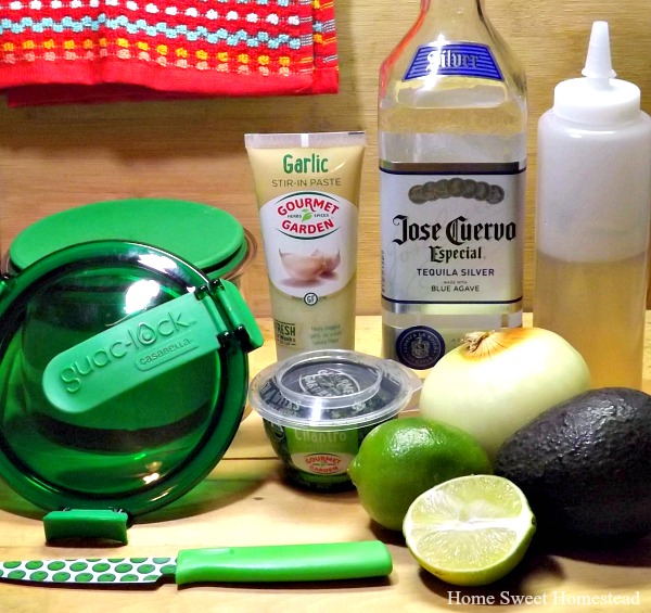 Margarita Guacamole Ingredients - Home Sweet Homestead