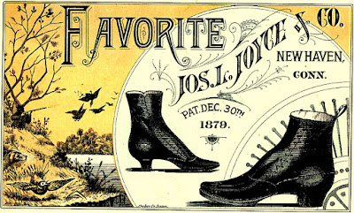 """""""Favorite"""" brand shoes in foreground, landscape with pond in background"""