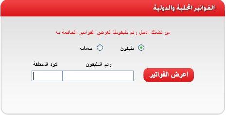 كيفية الإستعلام عن فاتورة التليفون الأرضى لشهر مايو 2016 من موقع المصرية للاتصالات بالاسم ورقم الهاتف وموعد دفع الفاتورة