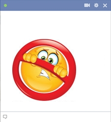Restricted Facebook smiley