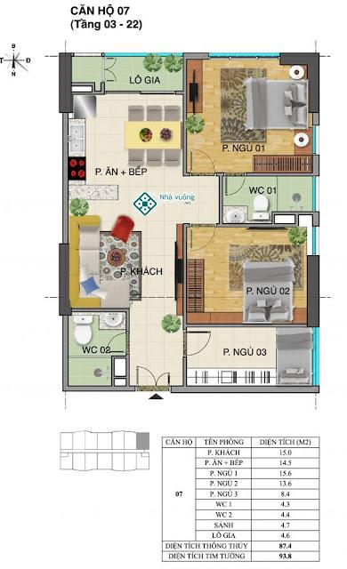 Căn hộ số 07 tòa Trường An- Tràng An Complex