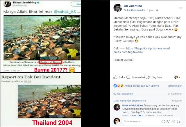 Tifatul Sembiring Diduga Unggah Foto Hoax Soal Rohingya, Netizen: Ingat Fatwa MUI Pak