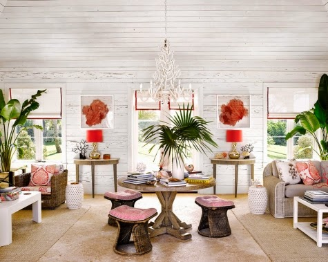 tropical pink decor