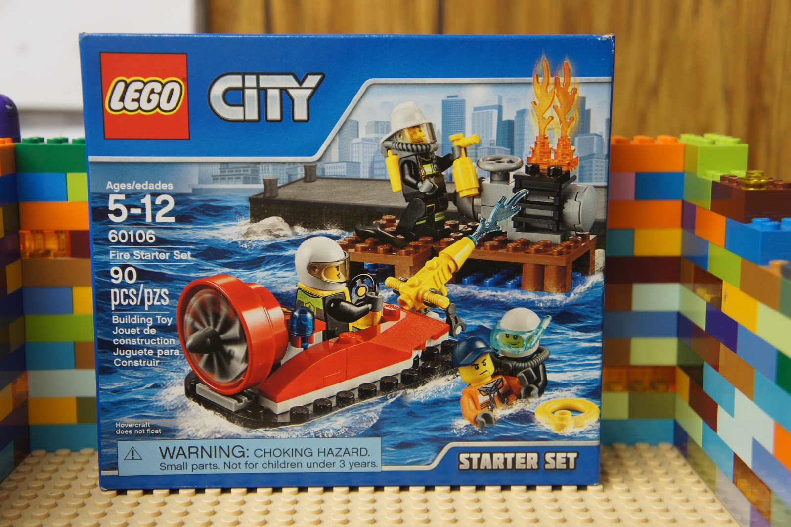60106 FIRE STARTER SET lego city town NEW legos FIREMEN 4 minifigs boat