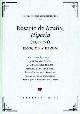 Portada del libro Rosario de Acuña, Hipatia (1850-1923) Emoción y razón
