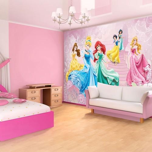 Disney tapetti Disneyn prinsessat tapetti vaaleanpunainen tapetti tyttö tyttö lapsi lastenhuone tapetti valokuvatapetti 3d