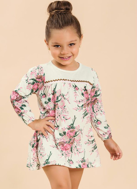 vestido estampado infantil