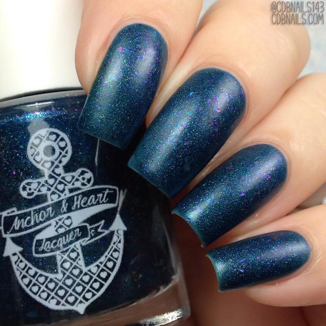 Anchor & Heart Lacquer-Fuzzy Blue Gobbler