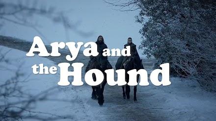 Arya Stark und der Bluthund als 80er Sitcom arrangiert | Vielleicht eine Idee für ein Game of Thrones Spinoff