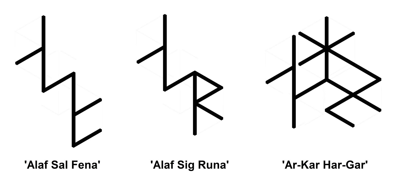 Real rune magick the esoteric praxis of bind runes three mantras of extremely deep power and importance to armanen visualized as bind runes the last one is generally near the apogee of armanen bind rune biocorpaavc Image collections